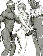 Sex hungry white cartoon girls trying their first butt sex with horny black dudes.